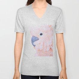 Pink Cockatoo Portrait Unisex V-Neck