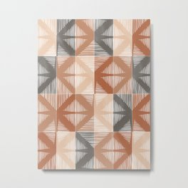 Mudcloth Tiles 01 #society6 #pattern Metal Print