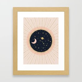 Love in Space Framed Art Print