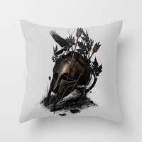 fall Throw Pillows featuring Legends Fall by nicebleed