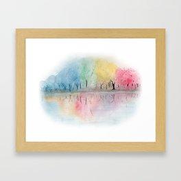Colorful Trees Framed Art Print