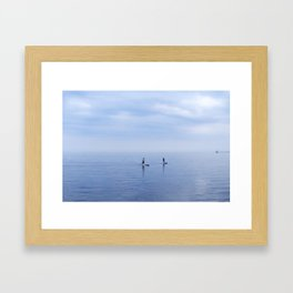 Couple Paddleboarding on Lake Ontario Framed Art Print