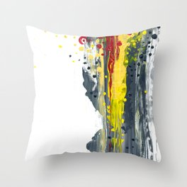 Grey & Yellow Throw Pillow
