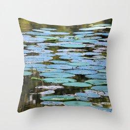 natchez lilypads Throw Pillow