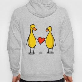 Two Ducks Holding Heart Hoody