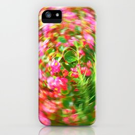 Flowers in Circular Motion iPhone Case