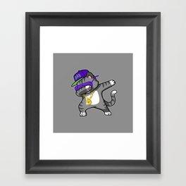 Dabbing Cat Framed Art Print