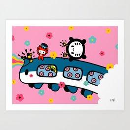 train train train.... Art Print