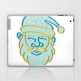 Santa Claus Head Memphis Style Laptop & iPad Skin