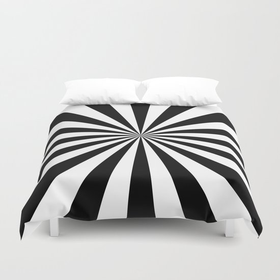 Starburst (Black/White) Duvet Cover
