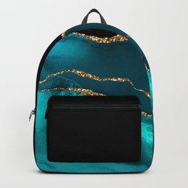 Beautiful Teal Desert Pattern Backpack