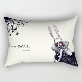 Rabbit Girl Rectangular Pillow
