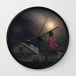 The Stars are Falling Wall Clock