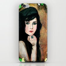 Green Lady iPhone & iPod Skin