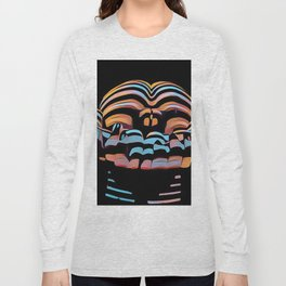 1333s-MAK Abstract Rearview Butt Up Pants Down Fingers in Front Long Sleeve T-shirt