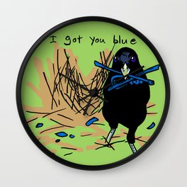 I got you blue Wall Clock