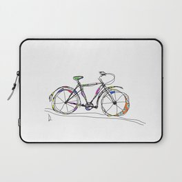 Colorful Bicycle Line Art Laptop Sleeve