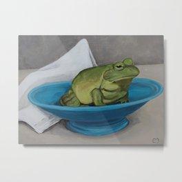 Frog Bowl Metal Print