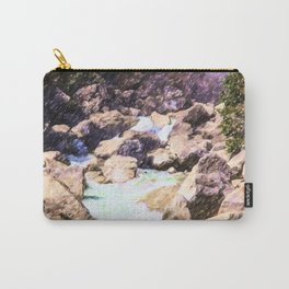 Forest stream in Yosemite National Park Carry-All Pouch