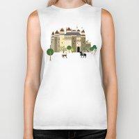 castle Biker Tanks featuring castle  by Design4u Studio