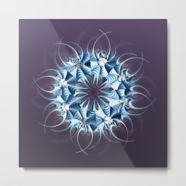 Wreath, mandala, star, flower, snowflake...? Metal Print