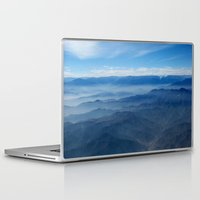 peru Laptop & iPad Skins featuring Blue in Peru by The Blonde Dutch Girl