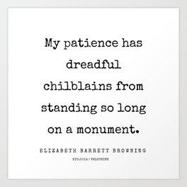 24   | 200210 | Elizabeth Barrett Browning Quotes Art Print