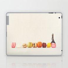 Paris, macaron and the eiffel - Vintage version Laptop & iPad Skin