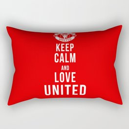 Keep Calm Love United Rectangular Pillow