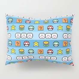 Pixel retro game Pillow Sham