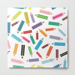 pencils Metal Print