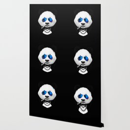 Blue Summer Panda Wallpaper