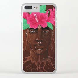 Poetry Africa. Clear iPhone Case