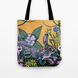 Rabbit Kickin' Back Tote Bag