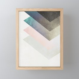Geometric Layers Framed Mini Art Print