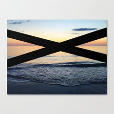 An X marks the spot Canvas Print