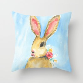 Harietta the Hare Throw Pillow