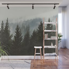Forest Fog Mountain IV - Wanderlust Nature Photography Wall Mural