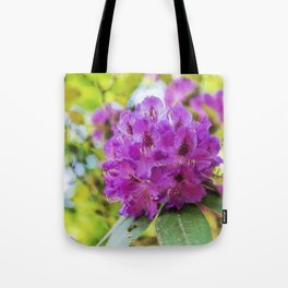 beautiful flowers in the rhododendron park Tote Bag