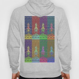 Twelve Colorful Space Rockets Hoody