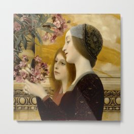 "Gustav Klimt ""Two Girls With An Oleander"" Metal Print"