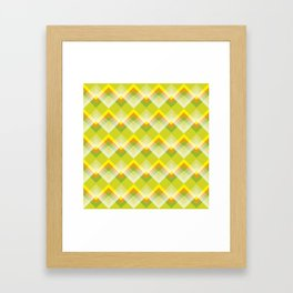 Yellow Orange Chevron Framed Art Print