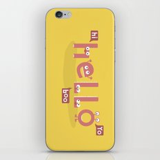 Monster Hello iPhone & iPod Skin