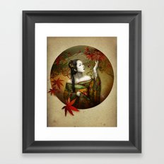 Momijigari [Maple Viewing] Framed Art Print