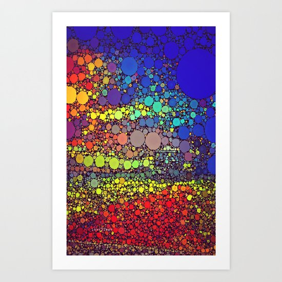 Speckled Rainbow Art Print