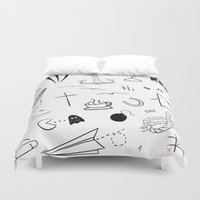 tattoos Duvet Covers featuring HL Tattoos by Stag Nacht