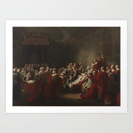 John Singleton Copley 1738–1815 Title The Collapse of the Earl of Chatham in the House of Lords, 7 J Art Print