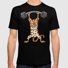 Ocelot Power Lifter Black Mens Fitted Tee X-LARGE