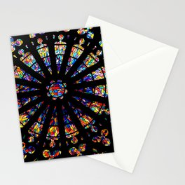 Church stained glass windows colors Stationery Cards