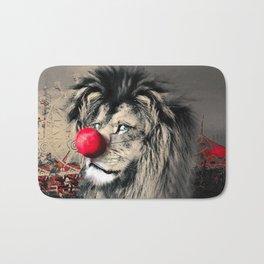 Circus Lion Clown Bath Mat